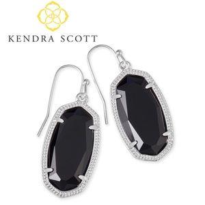 Kendra Scott Dani Silver Earrings in Black
